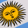 Detail on the flag of Argentina — Stock Photo