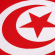 Detail on the flag of Tunisia — Stock Photo
