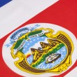 Detail on the flag of Costa Rica — Stock Photo