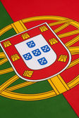 Detail on the flag of Portugal — Stock Photo