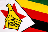Detail on the flag of Zimbabwe — Stock Photo