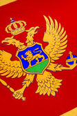 Detail on the flag of Montenegro - Europe — Stock Photo
