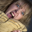 Stock Photo: Angry Young Woman