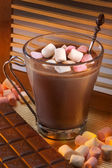 Hot Chocolate Drink - Marshmallows — Stock Photo