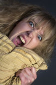 Angry Young Woman — Stock Photo