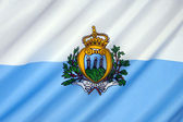 Bandera de san marino — Foto de Stock