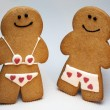 Gingerbread Man and Woman — Stock Photo