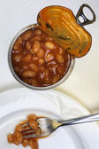Tin of Baked Beans — Stock Photo