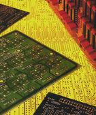Electronics - Printed Circuit Boards — Stock Photo
