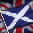 Flags of the United Kingdom and Scotland - Scottish Independence — Stock Photo #48846119