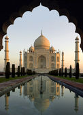 Taj Mahal at Dawn - Agra - India — Stock Photo