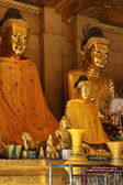 Buddha Images - Shwedagon Pagoda - Yangon - Myanmar — Stock Photo