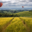 Hot Air Balloons over the East Yorkshire Wolds — Stock Photo #50002813
