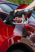 Pumping Gas - Filling a car with fuel — Stock Photo