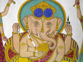 Indian Artwork - Hindu God Ganesha - Udaipur — Stock Photo