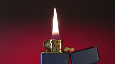 Cigarette Lighter Flame - Flickering Background - HD — Stock Video