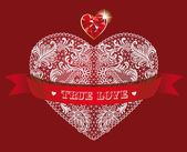 True love in red — Stock Vector