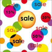 Sale with colorful rounds — Stock Vector