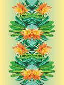 Mirror banana flower — Stock Vector