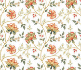Chintz pattern with carnation on the white background — Stockvector