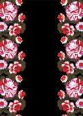 Motif floral miroir — Vecteur