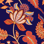 Vinateg floral indian pattern — Vettoriale Stock