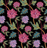 Vinatge tulips pattern — Stock Vector