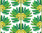 Banana tree pattern — Stock Vector
