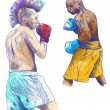Boxing match — Foto Stock