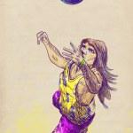 Beach volleyball — Stock Photo #18377715