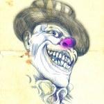 Portrait of an undead clown — Stock Photo #18378161