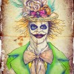 Portrait of an undead clown — Stock Photo #18399707