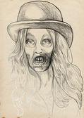 Portrait of an undead — Stock Photo