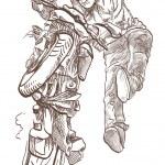 ������, ������: Motorcycle stunt