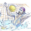 Water polo goalkeeper. - Stock Photo