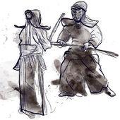 Budo - martial art — Stock Vector