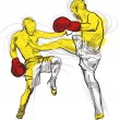Muay thai - Stock Photo