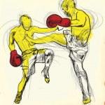 Muay - kickboxing — Stock Vector #21376265