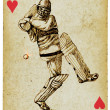 Cricketer — Stock Photo