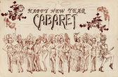 Cancan cabaret — Stockfoto