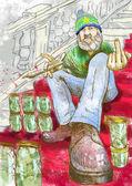 Tizio vendendo marijuana — Foto Stock