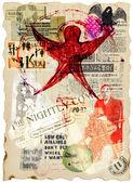 Grunge poster — Stock Photo