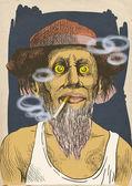 Topic: Smokers — Stock Photo