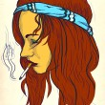 Hippie - Smoker — Stock Photo