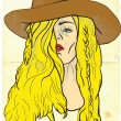 Cowgirl — Stock Vector