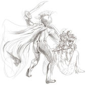 Perseus and Medusa — Stock Photo