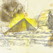 Sphinx and Pyramid - Grafika wektorowa
