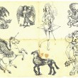 Постер, плакат: Collection of mythical characters