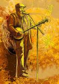 Banjo player — Stock Photo