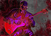 吉他弹奏者 — 图库照片